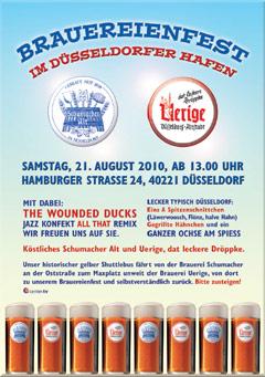 Veranstaltungsplakat Brauereifest 2010